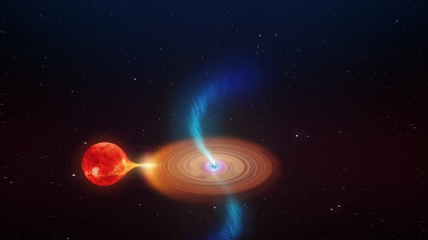 Report Extraordinary Black Hole Shoots Out Swinging