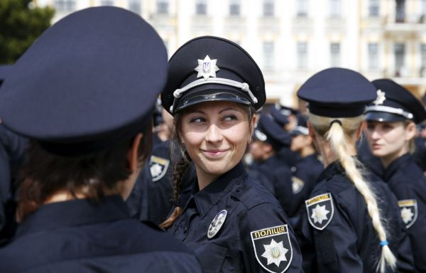 Young Kiev Police Recruits Cause a Stir on Social Media