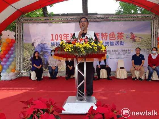 蔡文x是2022年首位表达嘉义市长职务的民进党成员。图片:蔡坤龙/照片(数据照片)