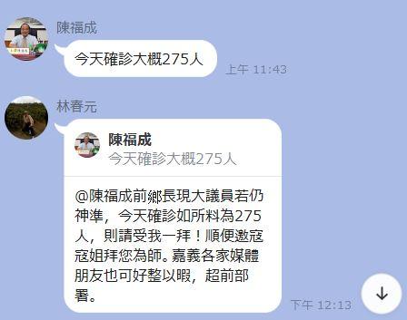 武漢肺炎》嘉義縣議員陳福成連3日預言確診人數  準度接近百分百