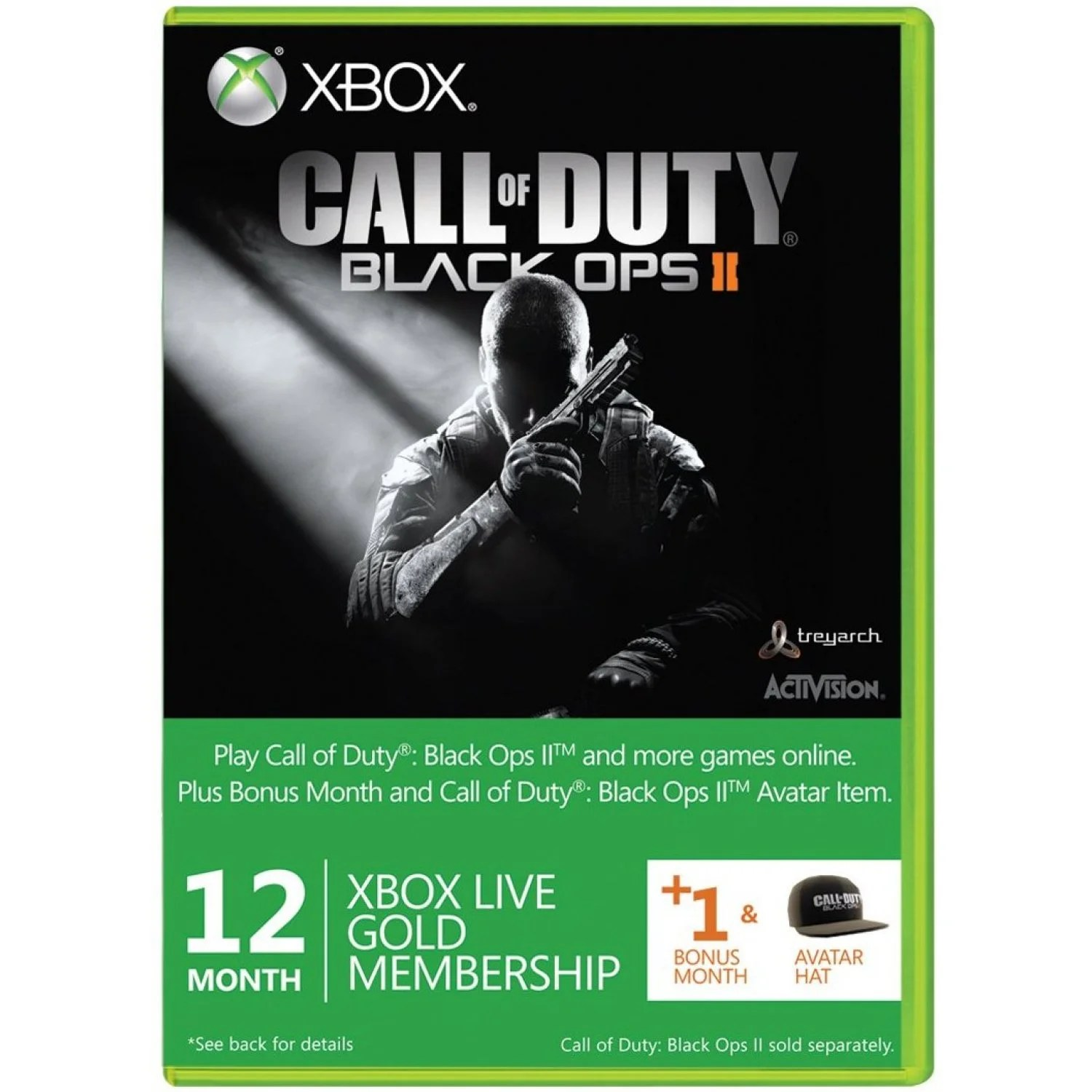 Xbox Live 12 Month 1 Gold Membership Card Call Of Duty