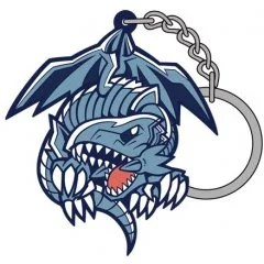 YU GI OH! DUEL MONSTERS TSUMAMARE KEYCHAIN: BLUE EYES WHITE DRAGON (RE-RUN) Cospa