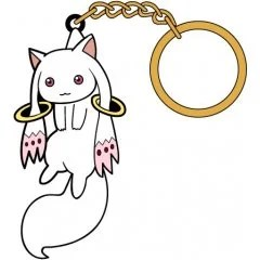 PUELLA MAGI MADOKA MAGICA THE MOVIE PART 3 REBELLION TSUMAMARE KEY RING: KYUBEY (RE-RUN) Cospa