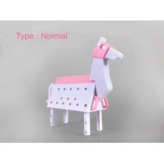 LOVE TOYS VOL. 3 1/12 SCALE MODEL KIT: WOODEN HORSE PINK VER. Sky Tube