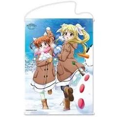 MAGICAL GIRL LYRICAL NANOHA REFLECTION B2 WALL SCROLL: NANOHA & FATE SNOWBALL FIGHT VER. Hobby Stock
