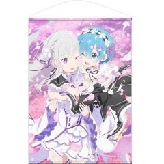 RE:ZERO KARA HAJIMERU ISEKAI SEIKATSU B2 WALL SCROLL: EMILIA & REM (RE-RUN) Cospa
