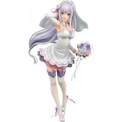 RE:ZERO STARTING LIFE IN ANOTHER WORLD 1/7 SCALE PRE-PAINTED FIGURE: EMILIA WEDDING VER. Phat Company