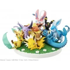 G.E.M. EX SERIES POCKET MONSTERS PRE-PAINTED PVC FIGURE: EEVEE FRIENDS Mega House