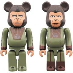 BE@RBRICK PLANET OF THE APES: CORNELIUS & ZIRA 2 PACK Medicom
