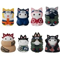 NYARUTO! NARUTO KONOHA NO YUKAI NA NYANKO-TACHI VER. (SET OF 8 PIECES) Mega House