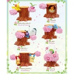 POKEMON ATSUMETE! KASANETE! POKEMON FOREST 4 PETAL DANCE (SET OF 6 PACKS) Re-ment