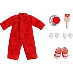 NENDOROID DOLL: OUTFIT SET (COLORFUL COVERALL - RED) Good Smile