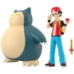 POKEMON SCALE WORLD KANTO: RED & SNORLAX & POKEMON FLUTE Tamashii (Bandai Toys)