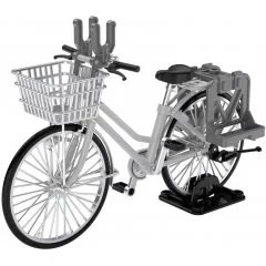 LITTLE ARMORY LM006 1/12 SCALE MODEL KIT: SCHOOL BIKE (SPECIFIED DEFENSE SCHOOL) SILVER Tomytec