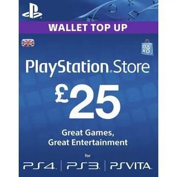 PSN Card 25 GBP Playstation Network UK Digital