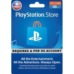 PSN CARD 20 USD | PLAYSTATION NETWORK US