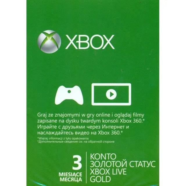 Xbox Live Gold 3 Month Membership Digital