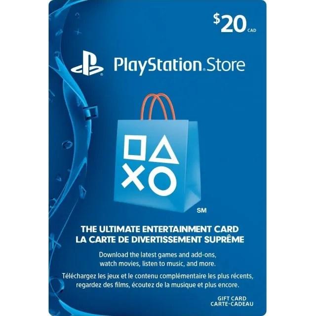 PSN Card 20 CAD Playstation Network Canada Digital