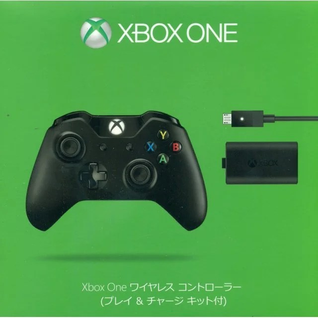 Xbox One Wireless Controller With Play Amp Charge Kit Black