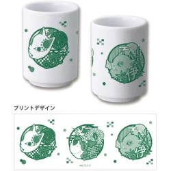 DEMON SLAYER: KIMETSU NO YAIBA JAPANESE TEA CUP: TANJIROU KAMADO, ZENITSU AGATSUMA AND INOSUKE HASHIBIRA