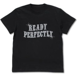 THE HERO IS OVERPOWERED BUT OVERLY CAUTIOUS - READY PERFECTLY T-SHIRT BLACK (M SIZE)