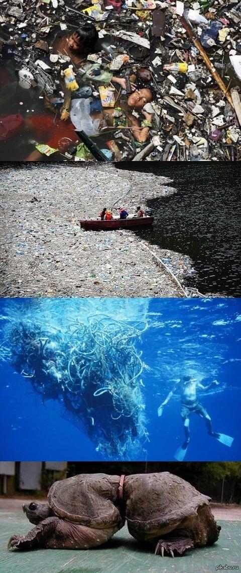Великий мусорный остров. Он размером штата Техас плавает ...