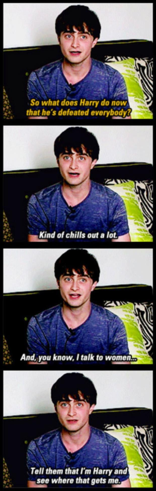 Daniel Radcliffe Hilarious Response To A Great Question...