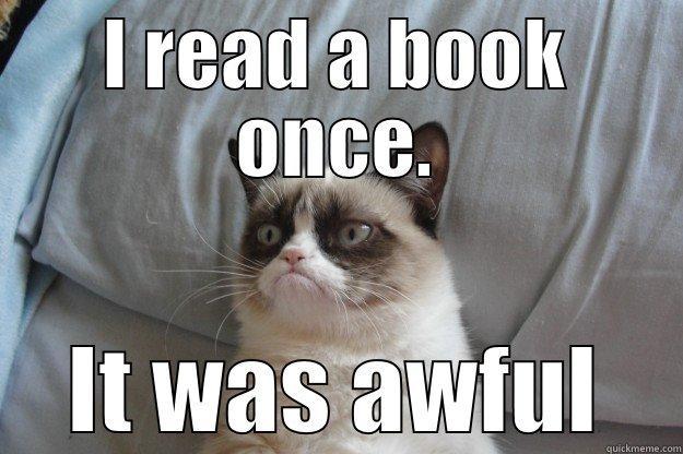 Image result for grumpy cat book meme