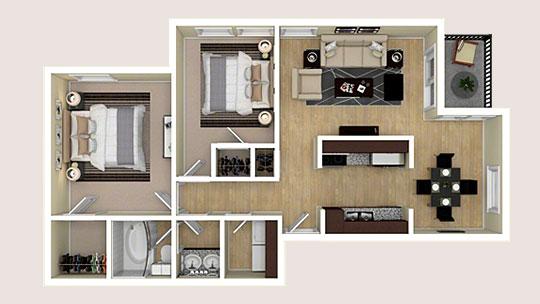 3D Apartment Floor Plans & Apartment Virtual Tours