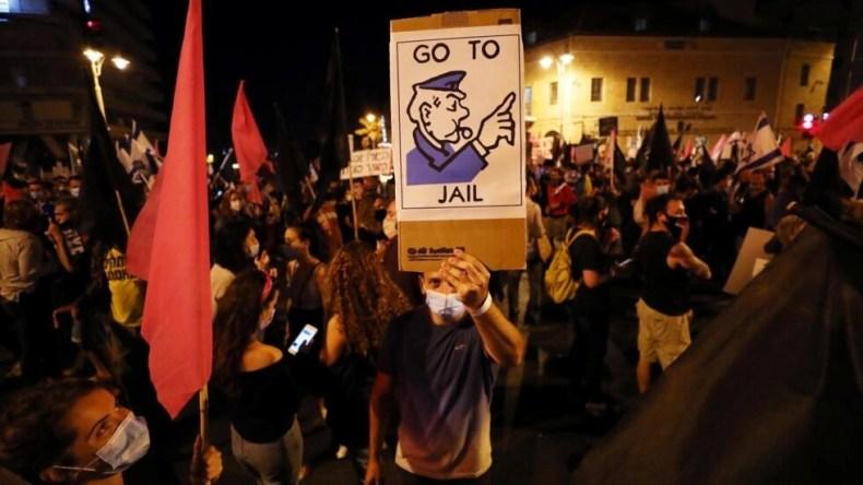 تظاهرات روز شنبه هفدهم اکتبر ۲۰۲۰، علیه بنیامین نتانیاهو در بیت المقدس