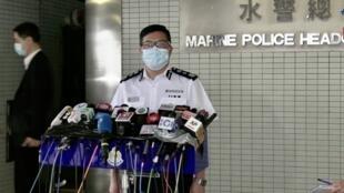 香港警务处长邓炳强在一次记者会上 2020年8月