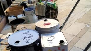 香港理大內有大量可供制造汽油弹的物品
