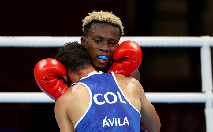 Le boxeur ghanéen Samuel Takyi affronte le Colombien Ceiber David Avila Segura aux Jeux olympiques de Tokyo le 1er août.
