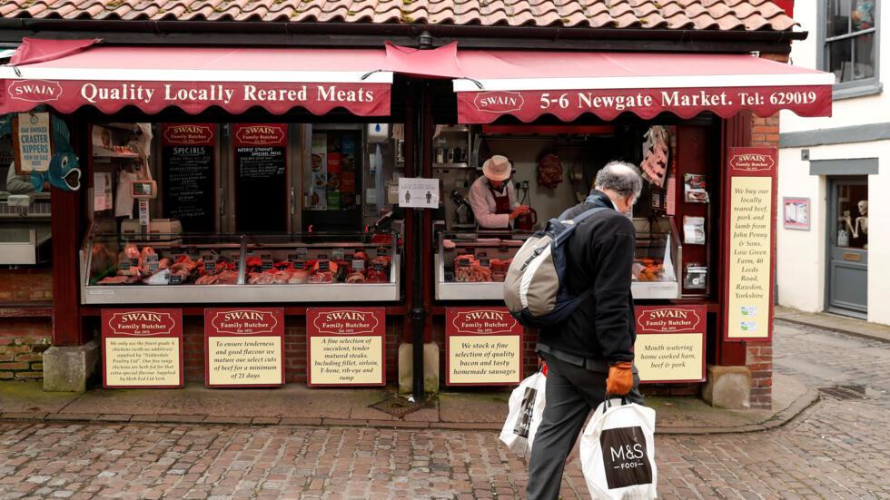 Cửa hàng ở thành phố York, Anh Quốc, vắng vẻ vì dịch Covid-19, ngày 31/03/2020.