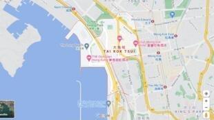 大角嘴在谷歌地图的分布