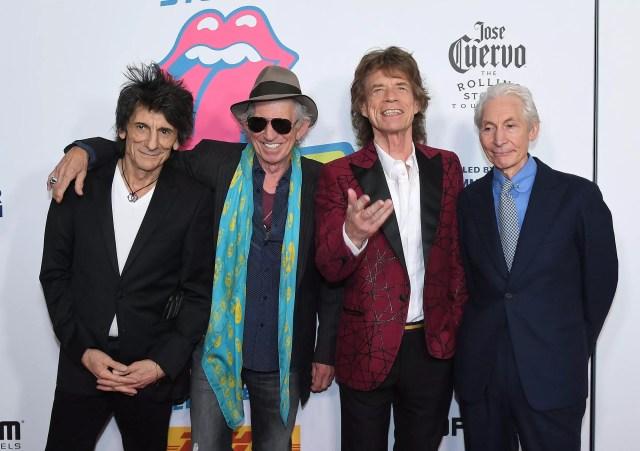 Desde la izq: Ronnie Wood, Keith Richards, Mick Jagger y Charlie Watts, en Nueva York, el 15 de noviembre de 2016