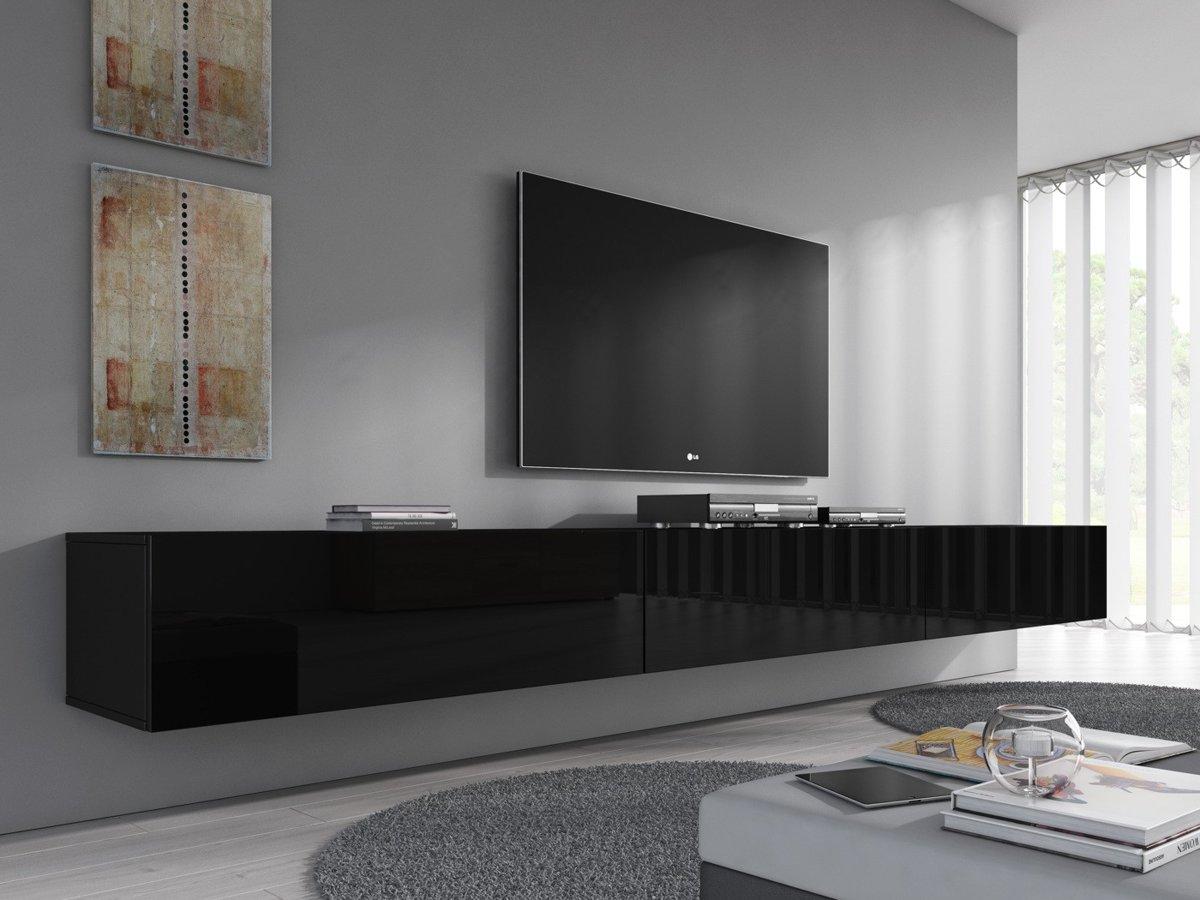 top honderd meubella tv meubel flame zwart  cm