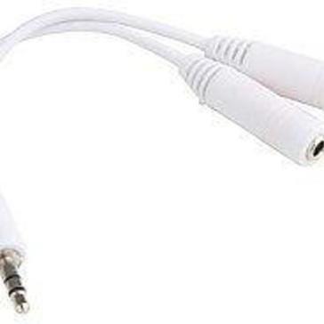 Audio splitter - Hoofdtelefoon splitter-koptelefoon splitter- 3.5mm -Wit