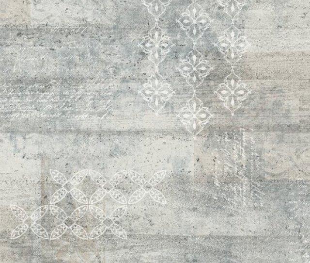 Vintage Beton Print Grijs Behang Vliesbehang Grijs
