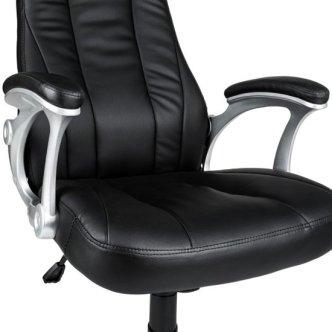 TecTake - bureaustoel burostoel Herman - zwart - elegant - 402396