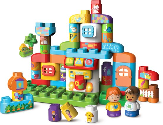 VTech Bla-Bla-Blocks Speelhuis - Interactief Constructiespeelgoed