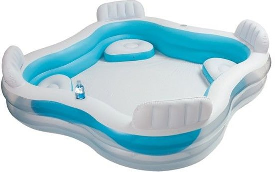 Intex Family Lounge Pool 239 x 239 x 66 cm - Opblaasbaarzwembad