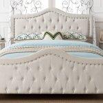 Livi Upholstered Bed Frame And Headboard Set Super King Bed Frame And Headboard Set Ivory Buy Online In Japan At Desertcart Productid 137063594