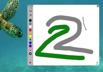 De kleine tekening widget