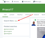 Search #macul17 then hit Show