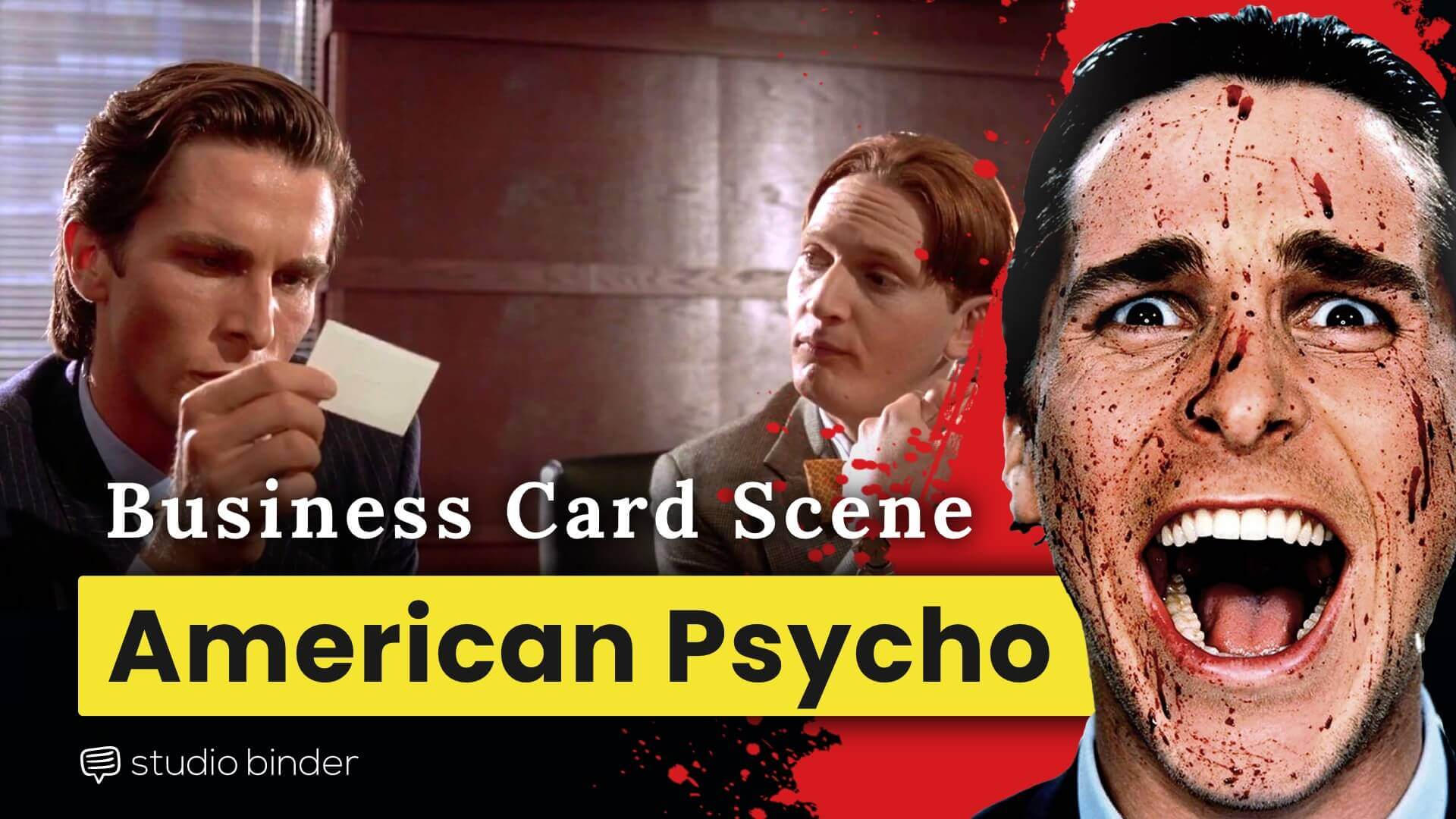 """Has strong acting from """"christain bale"""" American Psycho Business Card Scene Complete Breakdown"""
