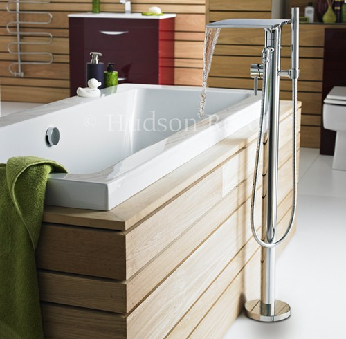 Waterfall Freestanding Bath Shower Mixer Tap Hudson Reed