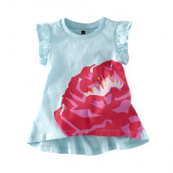 Tea Collection Moroccan Rose Twirl Top