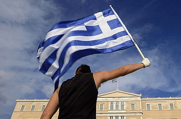 greece flag parliament