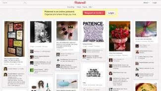 Vue du site Pinterest, en mars 2012